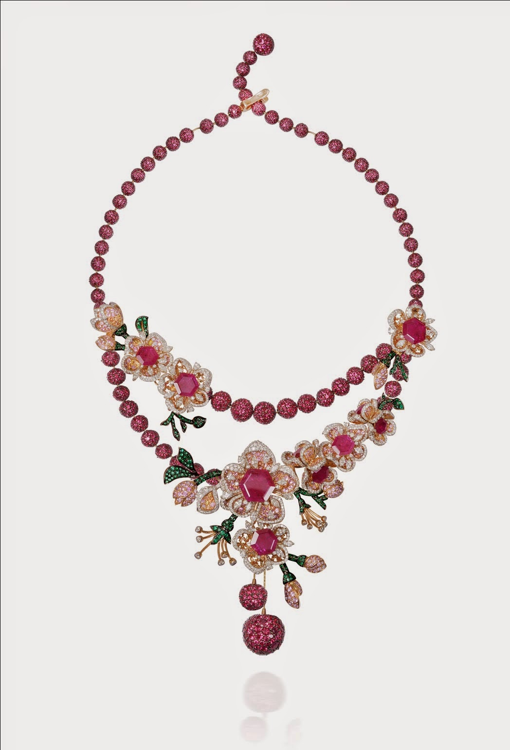 The Parure Necklace by Mirari Cherry Blossom Collection