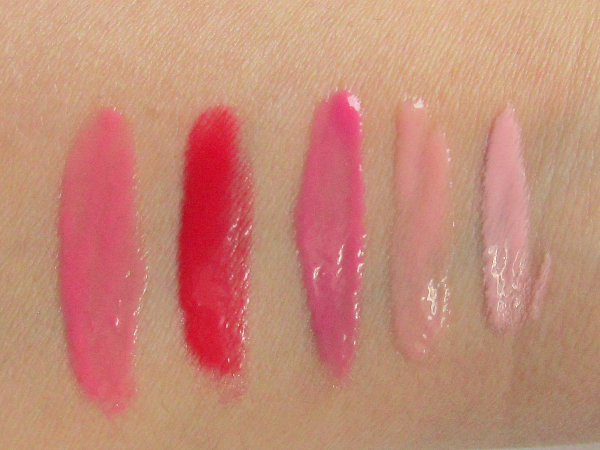 Laura Mercier Mini Lip Glacé Collection 2014 (Limited Edition) Swatches
