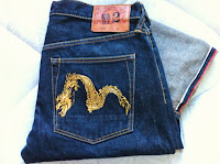evisu gold dragon no2 size 34