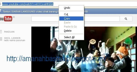 video dari youtube tanpa idm dan software