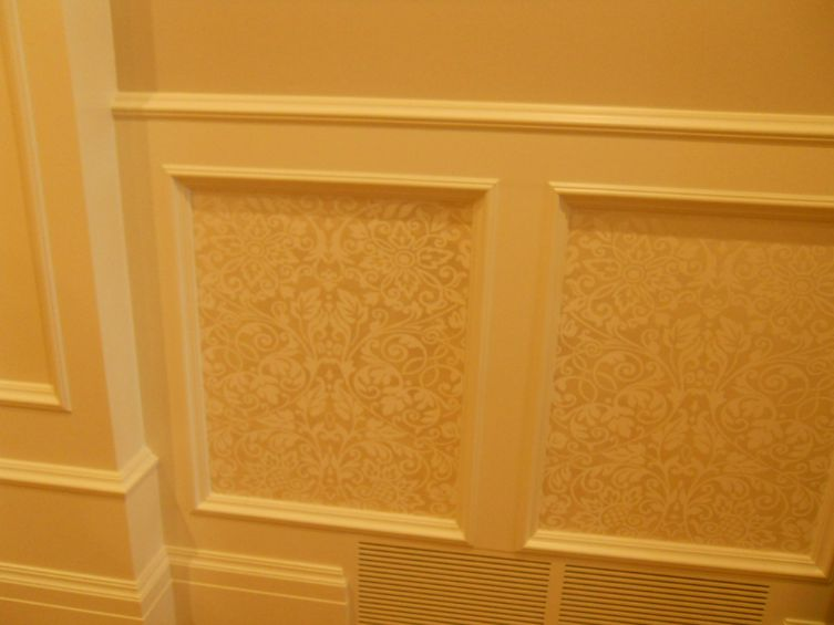 Fabric Within Woodwork
