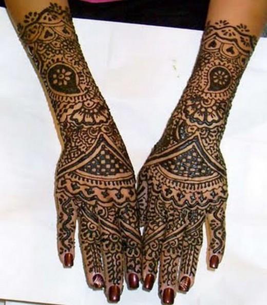 Back Hand Bridal Mehndi Designs : Henna sense bridal mehndi hands back of