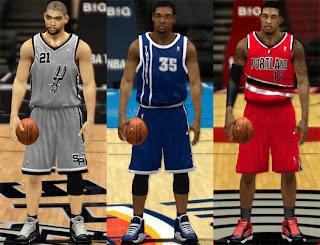 NBA 2K13 Alternate Jerseys Mod Pack