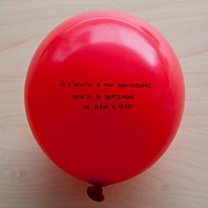 il faut gonfler le ballon pour connaître la date de la fête