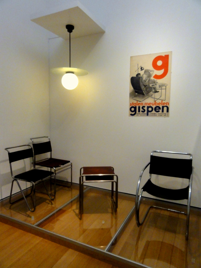 Right picture  Furniture by Marcel Breuer and Willem Hendrik Gispen  also Dutch  furniture designers. Stedelijk Museum Amsterdam  Van Gogh  Monet  Mondriaan  Picasso
