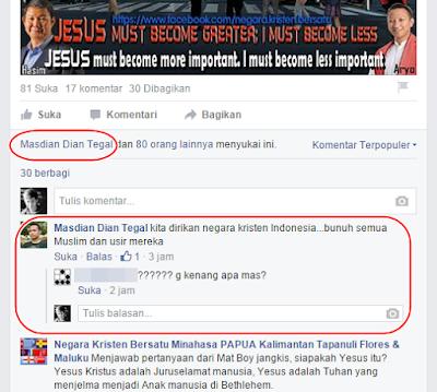 Mas Dian, Negara Kristen Indonesia, Papua