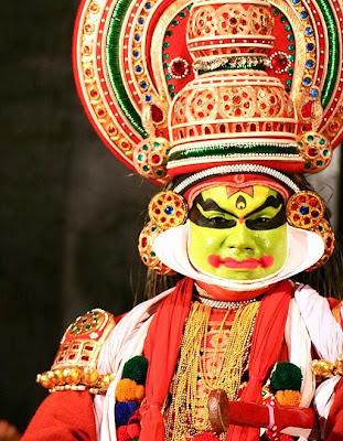 Los bailarines de Kathakali de Kerala