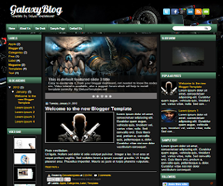 GalaxyBlog+Blogger+Template