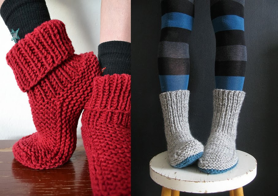 tuto tricot chaussons adultes