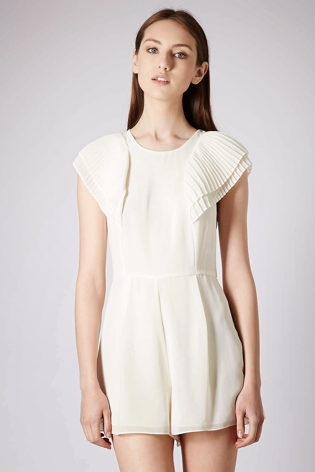 white chiffon playsuit