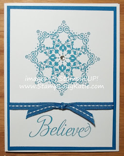Card made with Stampin'UP! stamp set: Snowflake Soiree