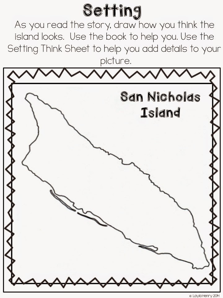 Island Of Blue Dolphins Interactive on Character Description Graphic Organizer