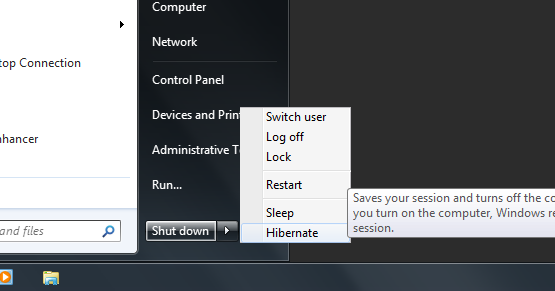 how to turn hibernate on windows 7