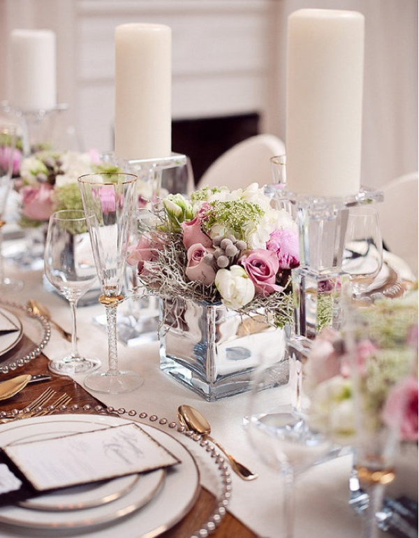 Lush fab glam blogazine wedding inspiration 15 exquisite for Floral arrangements for wedding reception centerpieces