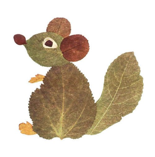 Leaves animal artwork