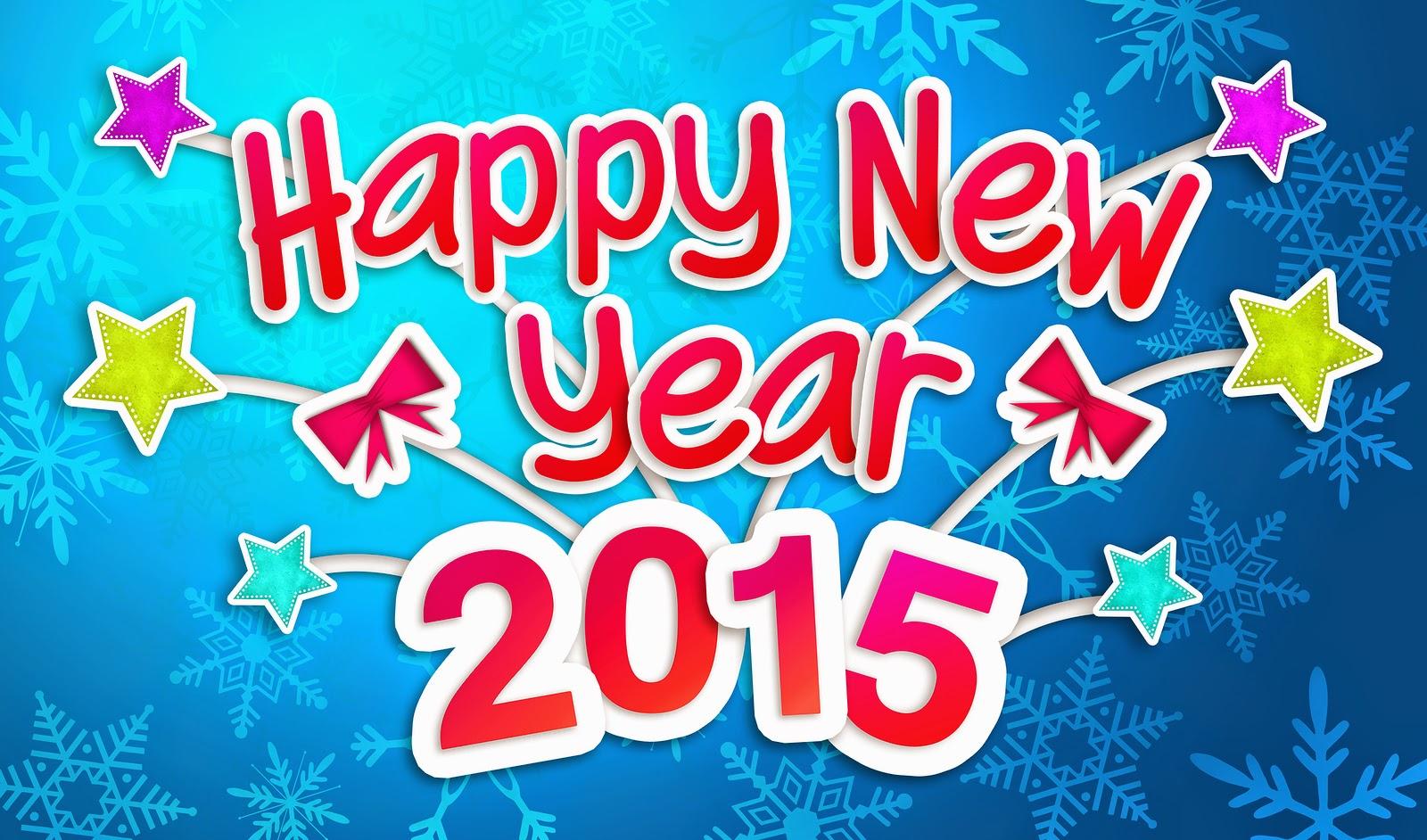 Happy New year 2015 wishing greeting card