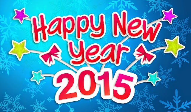 Happy New year 2015 wishing greeting card