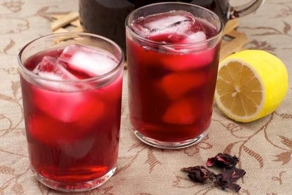 Чай каркаде и имбирь