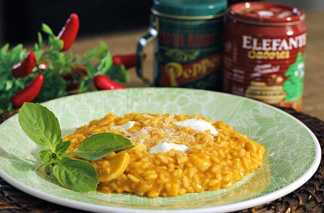 Risoto de Tomate e Mozzarella