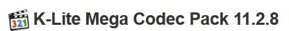 K-Lite Mega Codec Pack 11.2.8 FOr Windows