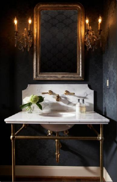 Vanity Lights For Powder Room : C.B.I.D. HOME DECOR and DESIGN: THE POWDER ROOM: SMALL SPACES WITH BIG IMPACT