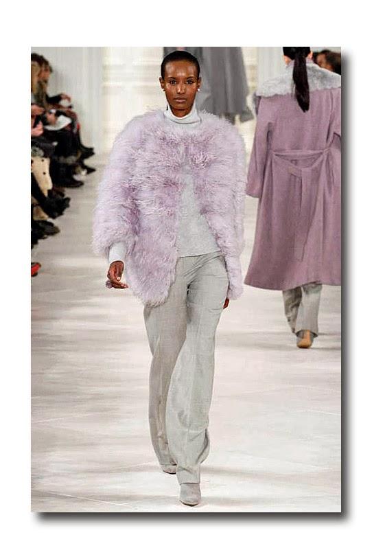 4dd759b488 Ralph Lauren lilac feather jacket heather grey melange cashmere turtleneck  taupe melange flannel suiting pant