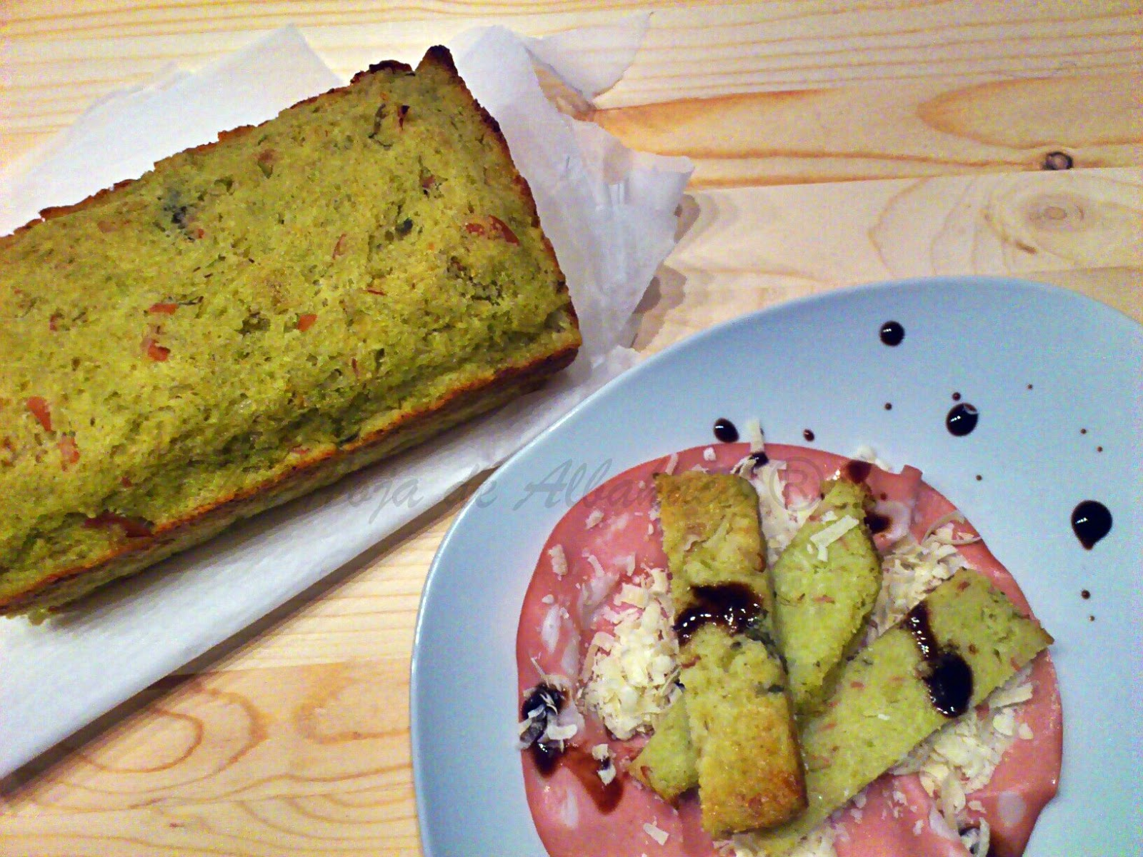 Pastel de brócoli romanesco, gelatina de vinagre de Módena,harina de semola de trigo duro, alcaparras, brócoli romanesco