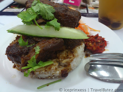 Stewed Pork Rice with chilli and some preserved vegetables