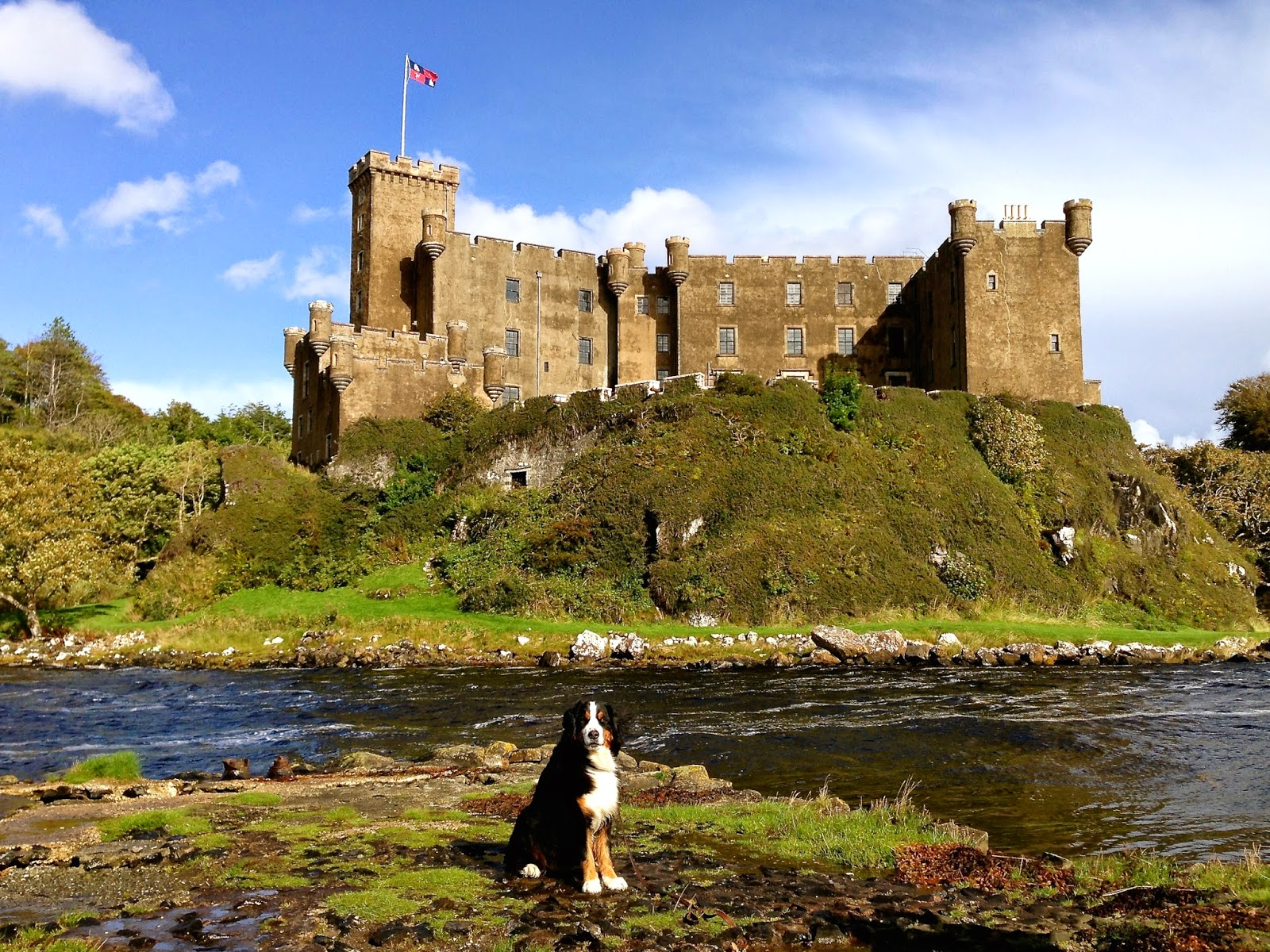 Mattie outside Dunvegan Castle on the Isle of Skye
