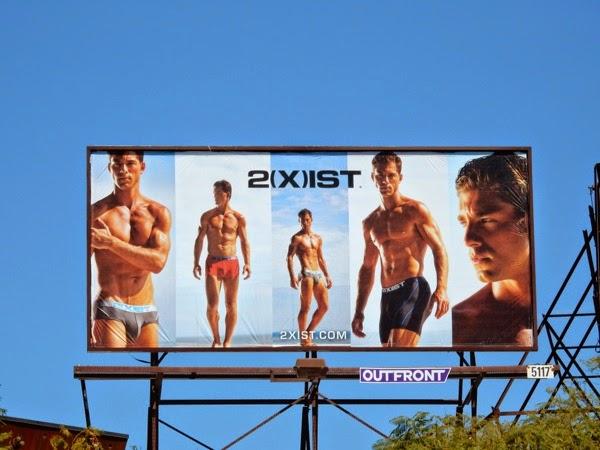 2Xist Spring 2015 underwear billboard