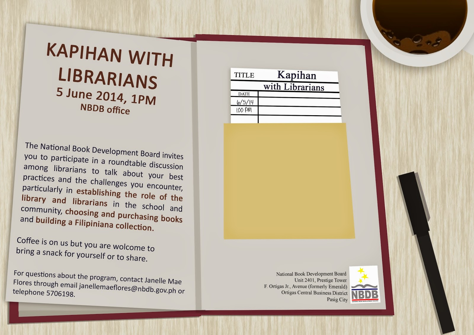 School librarian in action nbdbs kapihan with librarians i am looking forward to this round table discussion with stakeholders of the book industry meanwhile i am sifting through my list of what to share and stopboris Choice Image