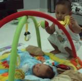 playmat, abang, adik, family, play