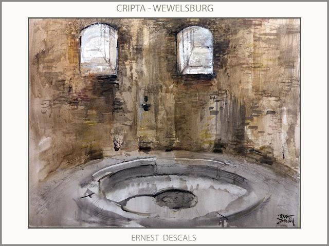 WEWELSBURG-ARTE-ALEMANIA-CRIPTA-PINTURA-MISTICA-PADEBORN-HISTORIA-SS-CASTILLOS-ARTISTA-PINTOR-ERNEST DESCALS-