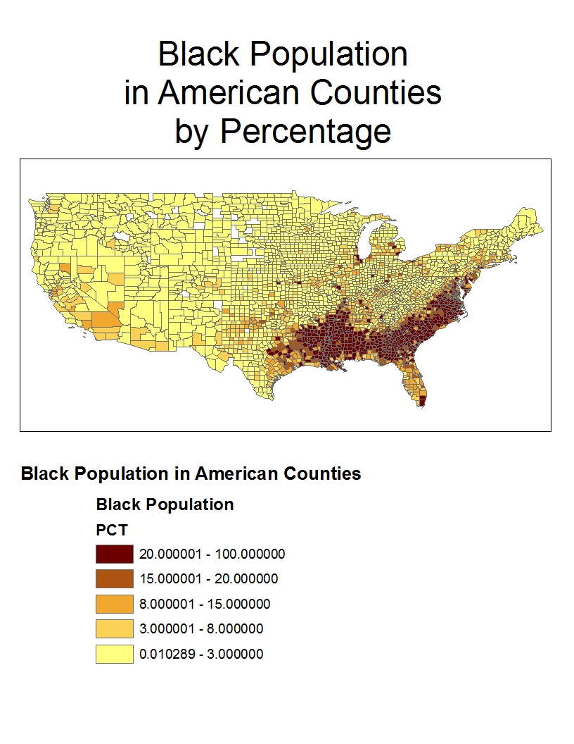 during the year 2000 african americans clustered deep within the american south this is not surprising because the south has a deep history with
