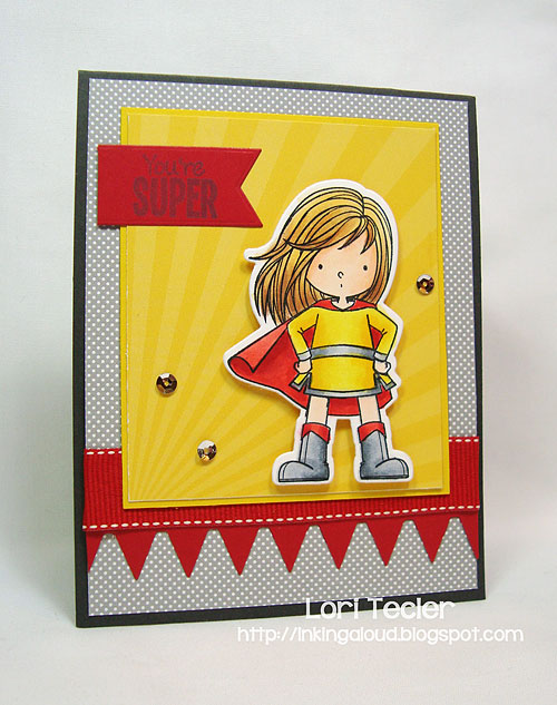 You're Super card-designed by Lori Tecler/Inking Aloud-stamps and dies from My Favorite Things