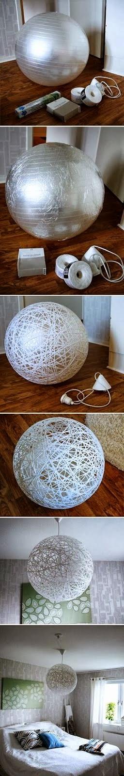 DIY String Ball Lampshade