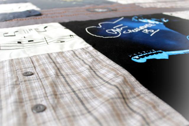Nähen alte Kleidung Decke