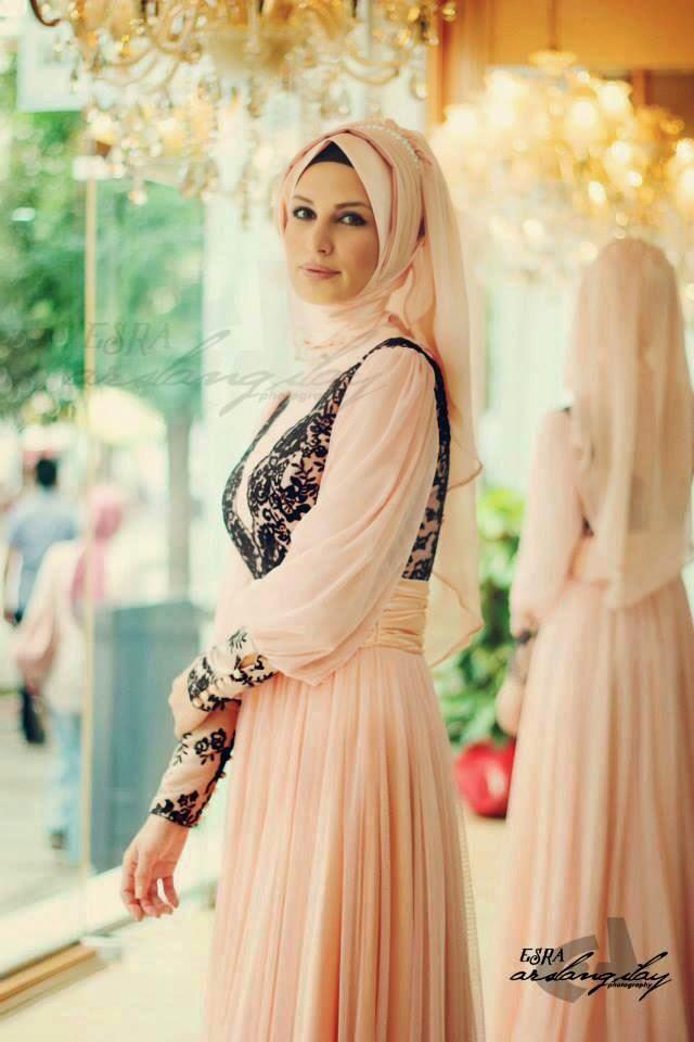 Robe de soirée pour femme en hijab , Hijab mode , Hijab mode