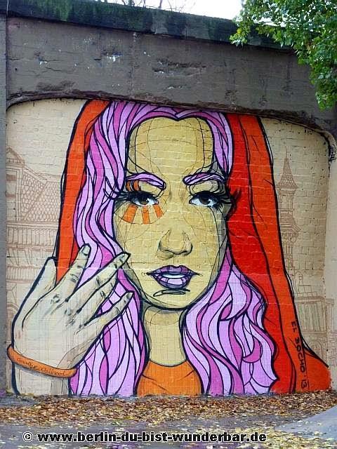 streetart, berlin, kunst, graffiti, street art, mural, el bocho, little lucy, wandbild