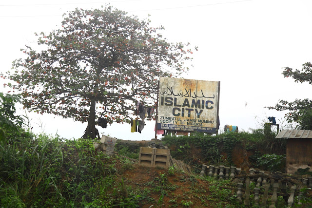 islamic city by the roadside