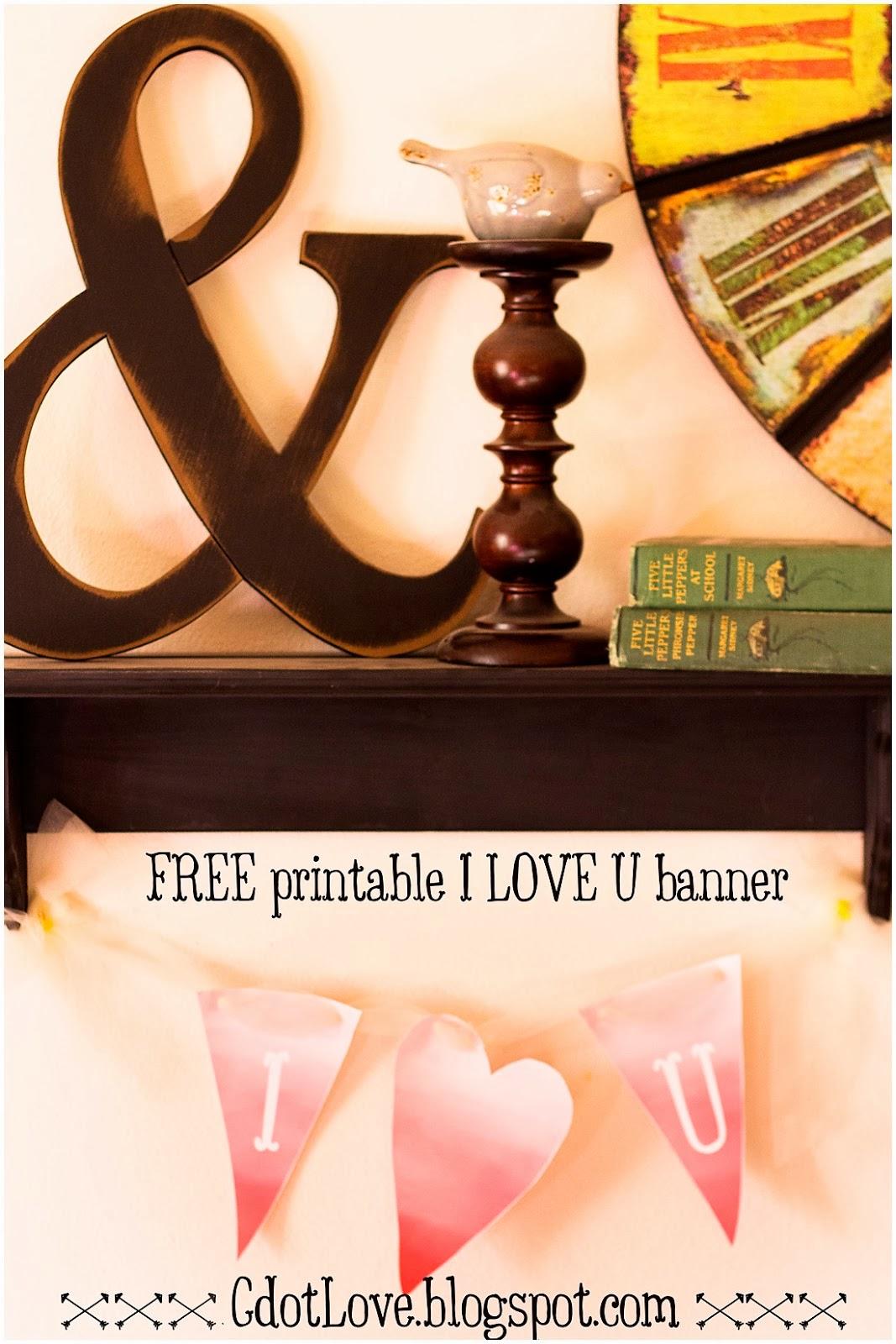 Valentine Banner, Free Printables,