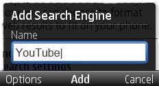 opera mini add search engine