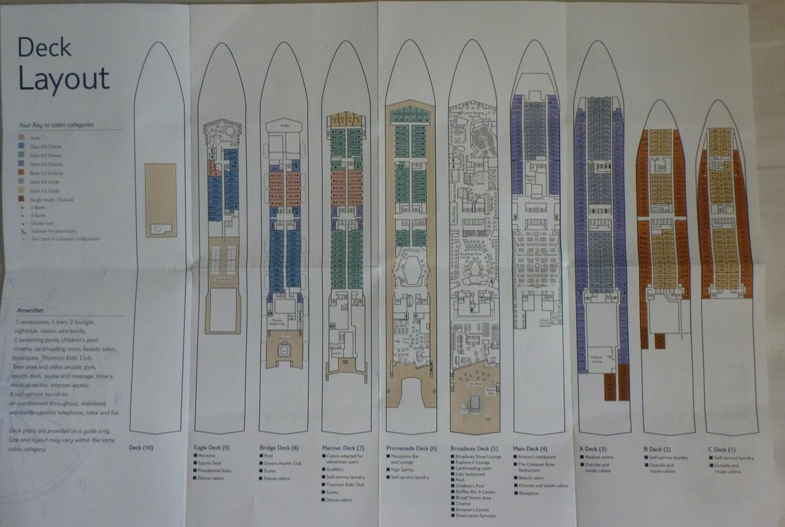Haynes world thomson spirit 11th august 2012 for The world deck plans