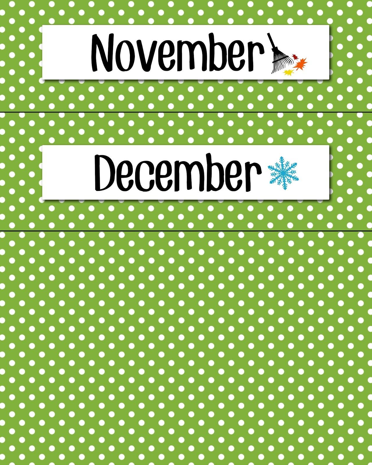 Monthly Calendar Headings : Magic markers calendar headers