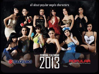 hot Download Kalender 2013 Model Seksi Majalah Popular World