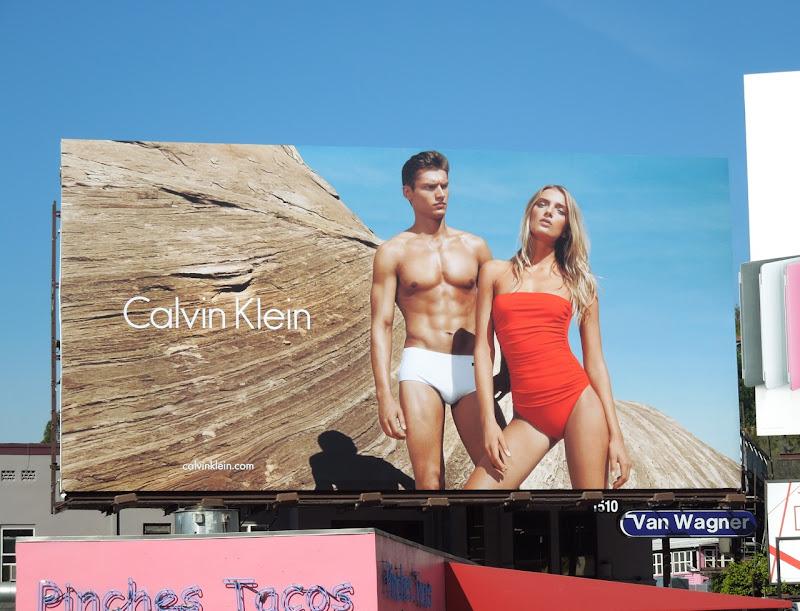 Danny Beauchamp Calvin Klein swimwear billboard