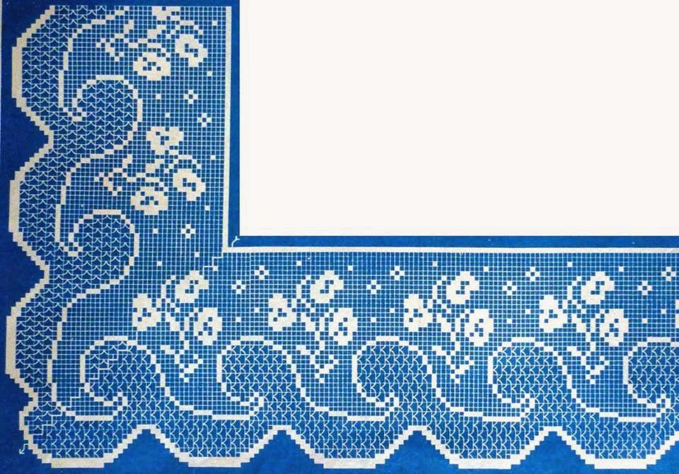 Вязание узоров на скатерть