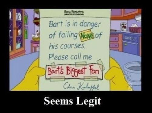 Bart being Bart