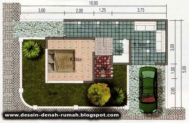 Denah Rumah Minimalis Rumah Hook di Pojok Jalan & Desain Minimalis Rumah Hook di Pojok Jalan ~ Desain Denah Rumah ...