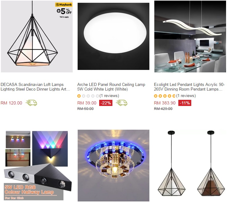 Deco Ceiling Light: 50% OFF